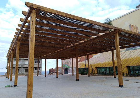 Estructuras de madera - Pergolas de madera en sevilla ...